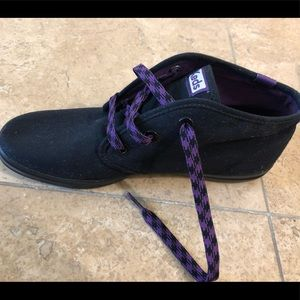 Keds Black Hightop with Purple Accents NWOT